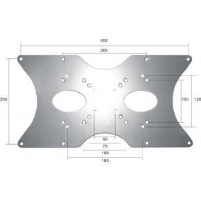 Newstar FPMA-VESA400 VESA verloopplaat zilver