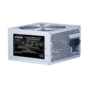 Image for product 'Spire SP-ATX-420W-C1-PFC Jewel [ATX 420W SATAx2 4+4pin, 20+4pin 90mm Silver]'