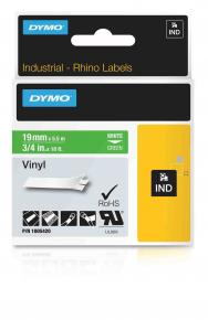 Image for product 'Dymo 1805420 RhinoPRO vinyl [19mm x 5.5m White/Green]'