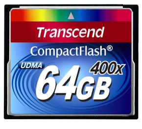 Image for product 'Transcend TS64GCF400 CF CARD [64GB 400X TYPE I]'