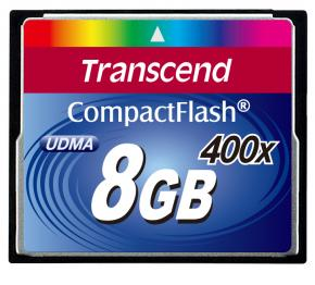 Image for product 'Transcend TS8GCF400 CF CARD [8GB 400X TYPE I]'