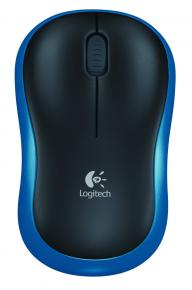 Product-details of Logitech M185 wireless mouse, blue