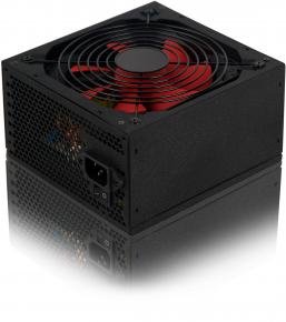 Product-details van HKC V-450 Silent Power-supply [ATX 450W 75% eff.  SATAx3 4pin, 20+4pin Black/red]