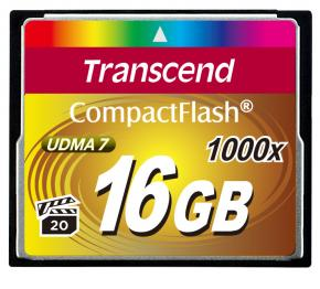Image for product 'Transcend TS16GCF1000 CF Card [16GB 1000X TYPE I]'