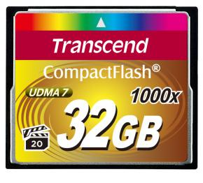 Image for product 'Transcend TS32GCF1000 CF Card [32GB  1000X TYPE I]'