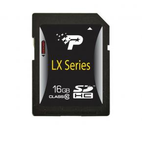 Image for product 'Patriot PSF16GSDHC10 LX SERIES SDHC [16GB SDHC 3.0 CLASS 10]'