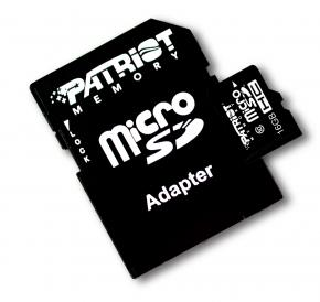 Image for product 'Patriot PSF16GMCSDHC10 LX SERIES MICRO SDHC [16GB MICRO SDHC CLASS 10]'