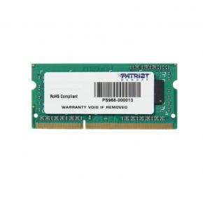 Image for product 'Patriot PSD34G160081S SO DIMM [4GB 1600MHZ DDR3 CL11 SODIMM]'
