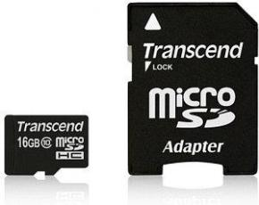 Image for product 'Transcend TS16GUSDU1 MicroSDHC [16GB Class10 U1 with adapter]'