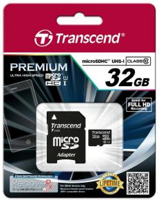 Product-details van Transcend TS32GUSDU1 MicroSDHC [32GB Class10 U1 with adapter]