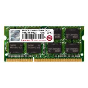 Image for product 'Transcend TS512MSK64W6H [4GB DDR3 Low-Voltage 1.35v 1600Mhz SO-DIMM 1Rx8]'