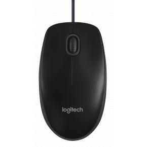 Product-details van Logitech B100 Wired Office Mouse OEM [USB, Optical 800 DPI, 3 buttons, 1.8m, Black]