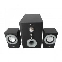 *ADJ 760-00004 ADJ Pop High-Quality Speaker Set [2.1 21W 4 inch Sub Satellite 2.5 inch x2 20Hz-40KHz, Black]