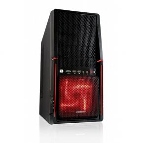 Modecom AT-ALRF-10-000000-0002 VOLCANO ALIEN RED Midi-Tower [ATX, USB2.0/ CR, Window, Tool-Free]