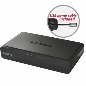 Edimax ES-5800G V3 Gigabit Ethernet desktop switch [8-port, 10/100/1000Mbps, IEEE802.3az, 9K Jumbo]
