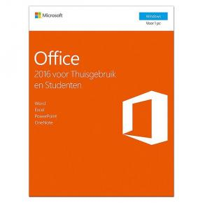 Product-details van Microsoft 79G-04757 Office Home and Student 2016 NL [1 user, 32b/64b: Word, Excel, PowerPoint & One]