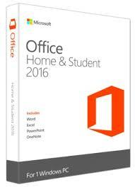 Microsoft 79G-04597 Office Home and Student 2016 English [1 user, 32b/64b: Excel, Powerpoint, Word]