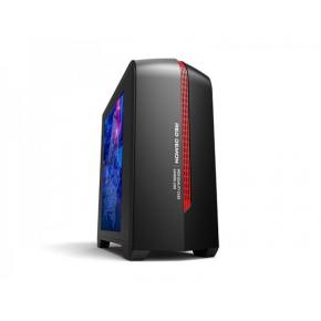 ADJ 200-00042 Gaming Midi-Tower [mATX/Mini-ITX, Plexi Window, USB3.0, 1x 120mm, No PSU, Red/Black]