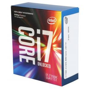 Image for product 'Intel BX80677I77700K Corei7 7700k [LGA1151, 4.2GHz/4.5Ghz Quad-Core HTT, 8MB, HD630, 95W, 14NM, BOX]'