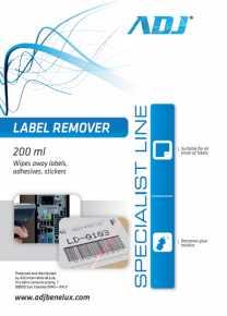 ADJ 100-00027 ADJ Label Remover - Spray - 200ML