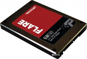 """Image for product 'Patriot PFL60GS25SSDR FLARE SSD [60GB, 2.5"""", SATA3 6Gbps, 555/ 535MB/s, 75000 IOPS]'"""