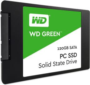 Image for product 'WESTERN DIGITAL WDS120G1G0A GREEN SSD [2.5 INCH, SATA3, 120GB, 540MB/S, 465MB/S, 37.000 IOPS]'