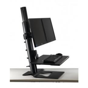 Image for product 'Filex 809121 Devon Zit-Sta Werkstation voor 2 monitoren [zwart]'