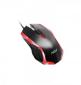 Image for product 'ADJ 510-00020 Kos Optical Gaming Mouse [USB, 600/1000/1600 DPI, 500hz, Black/Red]'
