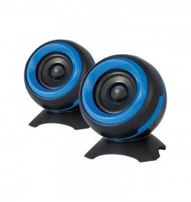 Image for product 'ADJ 760-00010 SP025 Sphere Speaker Set [2x 6W, 2.0 CH, USB Powered, 4O,  85Hz-20KHz,  60dB, Blue]'