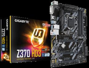 Image for product 'Gigabyte Z370-HD3 [ATX, LGA1151 V2, Intel Z370, 4x DDR4-2666, GBLAN, M.2. SATA3, TPM, RGB FUSION]'