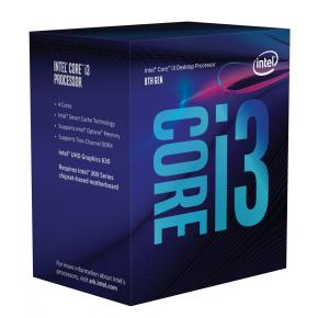 Product-details van Intel BX80684I38100 Corei3 8100 [LGA1151, 3.6GHz Quad-Core, 6MB, HD630, DDR4, 8 GT/s, 65W, BOX]