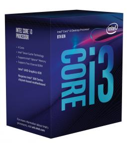 Image for product 'Intel BX80684I38350K Corei3 8350k [LGA1151, 4.0GHz Quad-Core, 8MB, 8Gt/s, Intel HD630, 91W, BOX]'