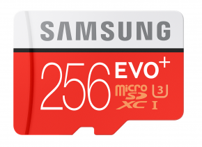 Image for product 'Samsung MB-MC256GA/EU MicroSDXC Card [256GB, UHS-I, Class10, 95 / 90MB/s, Heat-resist, Red]'