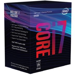 Image for product 'Intel BX80684I78700 Core i7 8700 [LGA1151, 3.2/4.6Ghz, 6-Core HTT, 12MB,HD630,8 GT/s, DDR4, 65W,Box]'