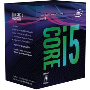 Image for product 'Intel BX80684I58400 Core`i5 8400 [LGA1151, 2.8/ 4.0Ghz 6-Core, 9MB, HD630, 8GT/s, DDR4, 65W, Box]'