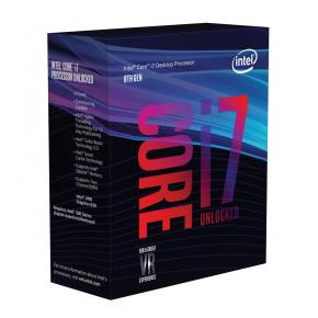 Image for product 'Intel BX80684I78700K Core i7 8700k [LGA1151, 3.7GHz/ 4.7Ghz 6-Core HTT, HD630, 8GT/s, DDR4,95W, Box]'