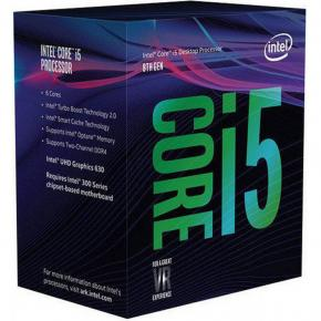 Image for product 'Intel BX80684I58600K Core i5 8600k [LGA1151, 3.6/4.3 GHz 6-Core, 9MB, HD630, 8 GT/s, DDR4, 95W,,BOX]'