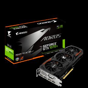 Image for product 'Gigabyte GV-N107TAORUS-8GD Nvidia GeForce® GTX 1070Ti AORUS Version [8GB, GDDR5, 256bit, 500W]'