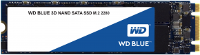 Image for product 'Western Digital WDS250G2B0B BLUE SSD [250GB, M.2, SATA3, 3D, 550/ 520 MB/s, 520, 95000/ 81000 IOPS]'