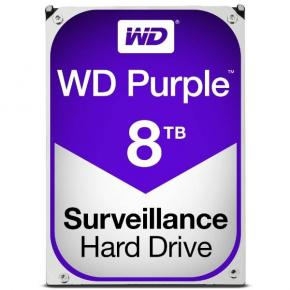 "Image for product 'Western Digital WD80PURZ Purple, 3.5"", 8TB, 5400 RPM, Serial ATA III, 128 MB, HDD'"