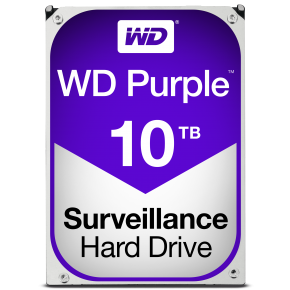Image for product 'Western Digital WD100PURZ PURPLE Surveillance HDD [10 TB, 3.5inch, SATA3 6 Gbps, 256MB, 210 MiB/s]'