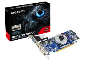 Image for product 'Gigabyte GV-R523D3-1GL AMD RadeonÂ? R5 230 [PCIe2.1, 1 GB GDDR3 64-bit, 625Mhz, Multiview, 400W]'