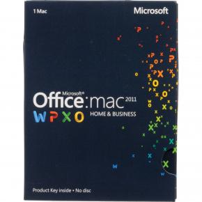 Image for product 'Microsoft Office W6F-00202 Home & Business for MAC 2011 Digital License [1-PC, Multi-Lang, MAC]'