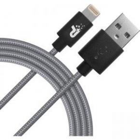 Image for product 'Patriot PCALC3FTGRY Apple Woven Lightning Cable [Lightning, Grey, 1m]'