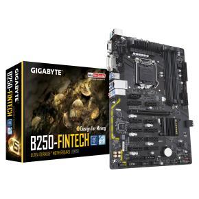 Image for product 'Gigabyte GA-B250-FINTECH Crypto Mining Rig [ATX, LGA1151, Intel® B250, 4 x DDR4 DIMM, 12x PCIe/VGA]'