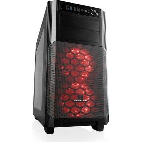 Modecom AM-REA-G-10-000000-0002 REA GLASS Midi-Tower [ATX, CR, USB3.0, 2x 120mm LED, Black]
