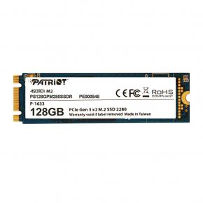 Image for product 'Patriot PS128GPM280SSDR SCORCH SSD [128GB, M.2 2280 PCIe, SMART ECC, 1700/ 415MB/s, 200K/ 28K IOPS]'