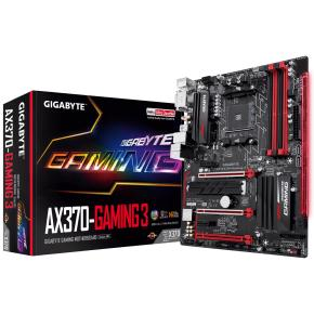 Image for product 'Gigabyte AX370-Gaming 3 [ATX, AMD AM4, X370, Ryzen, 4x, 4x DDR4 DIMM, USB3.1 Gen2, 2-way, CF, RGB]'
