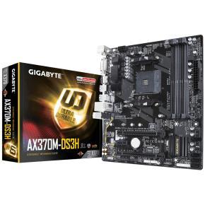 Image for product 'Gigabyte AX370M-DS3H [mATX, AMD AM4, X370, Ryzen/7th Gen, 4x DIMM DDR4-3200, M.2, USB3.1, PCIe x16]'