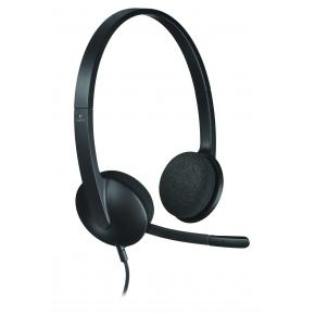 Image for product 'Logitech H340 Gaming Binaural Head-set w/ Mic [Wired, 20Hz-20KHz, Head-band, 1.8m, Black]'